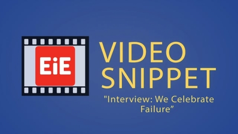 """Interview: We Celebrate Failure"""